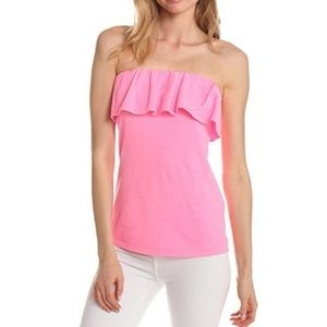 Lilly Pulitzer Ruffle Tube Top Strapless XS